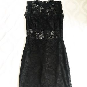 Venus black lace dress